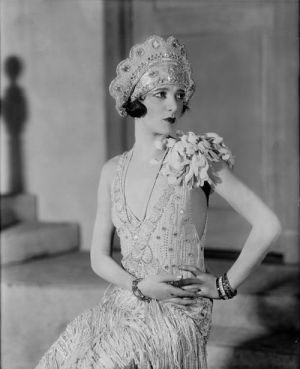 Gertrude Lawrence - Oh Kay - 1926  wedding dress 20s style.jpg