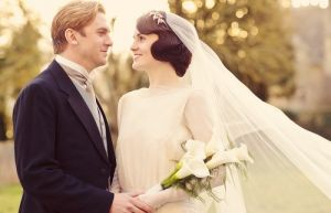 a vintage wedding - 1920s bridal hair - Downton Abbey costumes 1920s.jpg