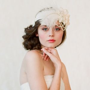 a vintage wedding - 1920s bridal hair - gatsby style bride hair piece.jpg