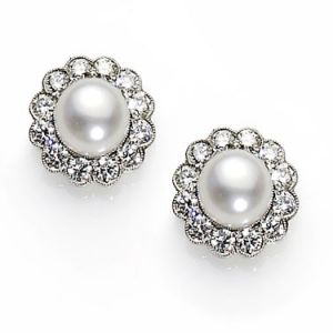 classic and elegant jewellery - pearl-and-diamond-cluster-earrings.jpg