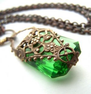 the vintage wedding - bride and wedding - green deco style jewel_large.jpg