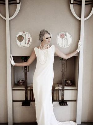 vintage wedding dress 1920s - flapper fashion ideas for theme wedding.jpg