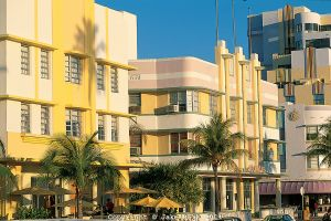 Florida. Art Deco architecture on Ocean Avenue in South Beach, Miami