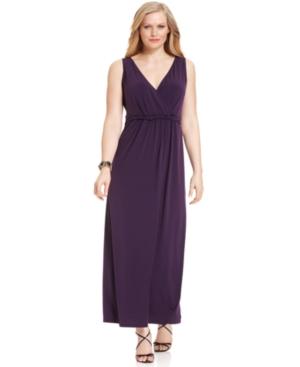 Ny collection plus size dress sleeveless twisted waist maxi dress jpg