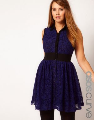 ASOS CURVE Mini Lace Dress with Elastic Waist.jpg