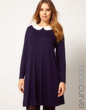 ASOS CURVE Swing Dress with Peterpan Collar.jpg