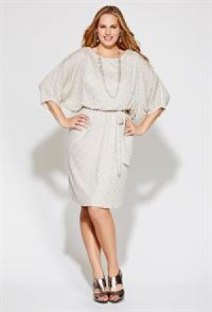 Avenue Plus Size Shimmery Belted Blouson Dress.jpg