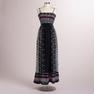 Cost Plus World Market Black and White Tribal Kanika Maxi Dress.jpg