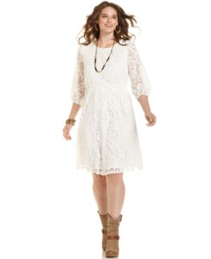 ING Plus Size Dress white Three-Quarter-Sleeve Lace.jpg