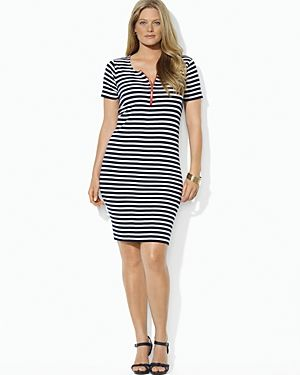 Lauren Ralph Lauren Plus Stripe Scoop Neck Dress-Plus Sizes.jpg