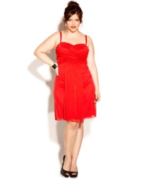 Love Squared Plus Size Dress Spaghetti-Strap Empire A-Line.jpg