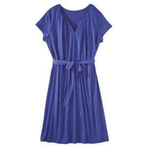 Merona Womens Plus-Size Sleeveless Asymmetrical Knit Dress - Blue from Target.jpg