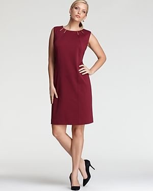 cheap plus size clothes - Calvin Klein Plus Dress with Hardware-Plus Sizes.jpg