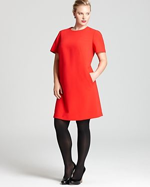 cheap plus size clothing - Jones New York Collection Plus Barrel Dress-Plus Sizes.jpg
