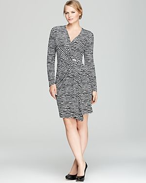 cheap plus size clothing - MICHAEL Michael Kors Plus Rozy Zebra Pleat Front Dress-Plus Sizes.jpg