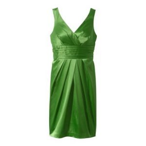 cheap plus size cocktail dresses - Green Target Plus Crossover V-Neck Sateen Dress - Ulster Green.jpg
