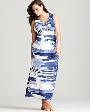 cheap plus size summer dresses - Karen Kane Plus Size Pleated Maxi Dress-Plus Sizes.jpg