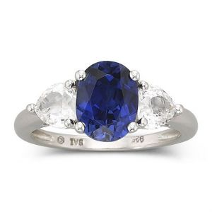 Fine Jewelry Lab-Created Sapphire Ring Sterling Silver.jpg