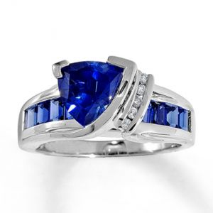 Jared Lab-Created Sapphire Ring Triangle-Cut 10K White Gold- Sapphire.jpg