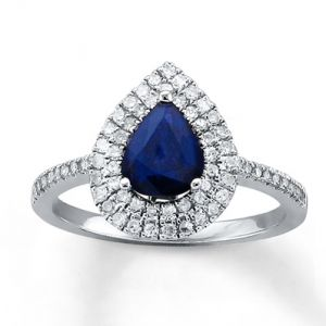 Jared Natural Sapphire Ring Diamonds 14K White Gold- Gemstone.jpg
