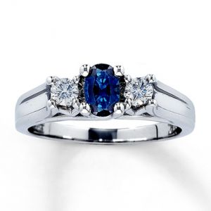 Jared Natural Sapphire Ring Oval with Diamonds 14K White Gold- Sapphire.jpg