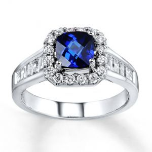 Jared Natural Sapphire Ring silver Diamonds 14K White Gold- Sapphire.jpg