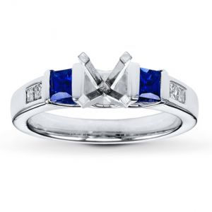 Kay Jewelers Sapphire Ring Setting Diamonds 14K White Gold- Kay Design-A-Ring.jpg