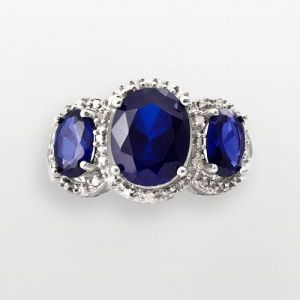 Kohls Sterling Silver Diamond And Lab-Created 3-Sapphire Ring.jpg