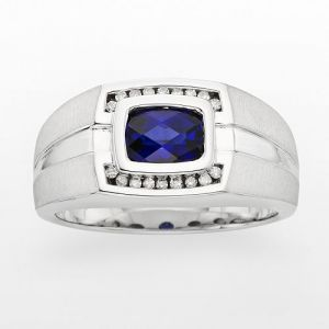 Kohls Sterling Silver Diamond And Lab-Created Sapphire Ring.jpg