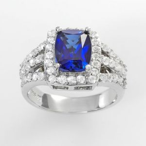 Kohls Sterling Silver Lab-Created White And Blue Sapphire Ring.jpg