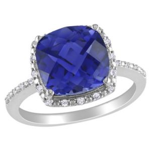 Target Silver Diamond and Created Sapphire Ring.jpg