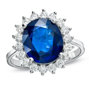 ZALES Oval Blue Sapphire and T.W. Diamond Frame Ring in 14K White Gold.jpg
