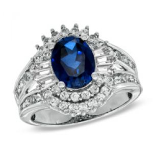 ZALES Oval Lab-Created Blue and White Sapphire Ring in 10K White Gold.jpg