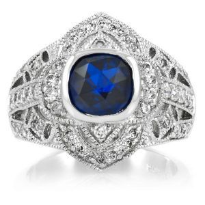 Emitations Maesa Rose Cut Synthetic Sapphire Ring - Maesas Rose Cut diamond sapphire blue.jpg