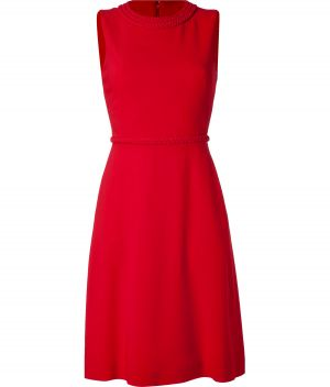 Ladylike style -Valentino Red Braid Embellished Dress.jpg