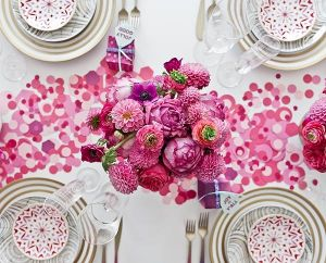 pink paper confetti and blooms - stylish entertaining.jpg