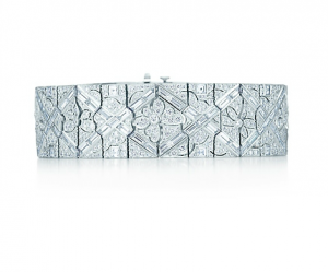 Tiffany Diamond floral bracelet in platinum - The Great Gatsby collection.PNG