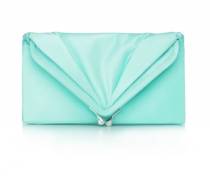 Tiffany Savoy clutch in onyx satin - Tiffany blue - The Great Gatsby collection.PNG
