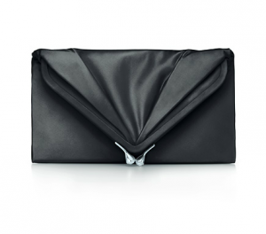 Tiffany Savoy clutch in onyx satin - black - The Great Gatsby collection.PNG