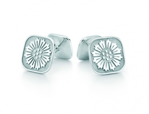 Tiffany Ziegfeld Collection daisy cuff links in sterling silver - The Great Gatsby collection.PNG