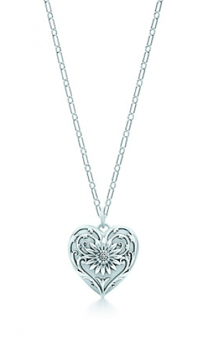 Tiffany Ziegfeld Collection daisy locket in sterling silver on a chain - The Great Gatsby collection.PNG