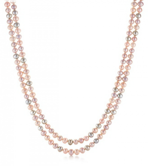 Tiffany Ziegfeld Collection necklace of freshwater cultured pearls with a silver clasp - Gatsby jewelry.PNG