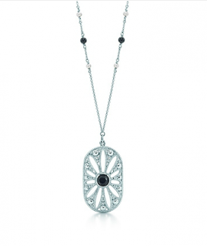 3b595415a ... Ziegfeld Collection daisy pendant in sterling silver with black onyx -  The Great Gatsby collection.