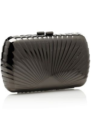 1920s bridal - bride and wedding - Metal shell clutch bag from Accessorize.jpg
