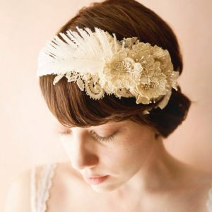 1920s wedding hair - the harpist ivory bridal hair band by whichgoose on Etsy.jpg