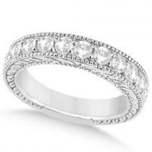 Allurez Antique Diamond Engagement Wedding Ring Band Palladium.jpg