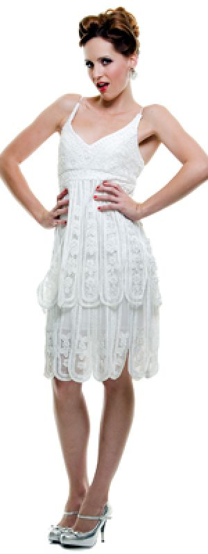 1920s Inspired Dresses Plus Size Gatsby style: 1920s wedding