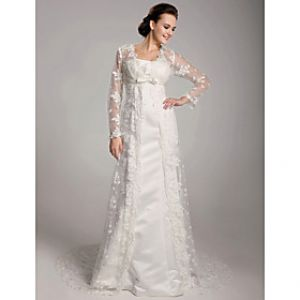 LightInTheBox Sheath Column Court Train Satin Lace Wedding Dress.jpg