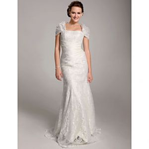 LightInTheBox Trumpet Mermaid Floor-length Lace Wedding Dress With Wrap.jpg