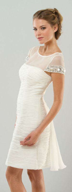 MIGNON White Sheer Beaded Cap Sleeve Destination Wedding Dress.jpg